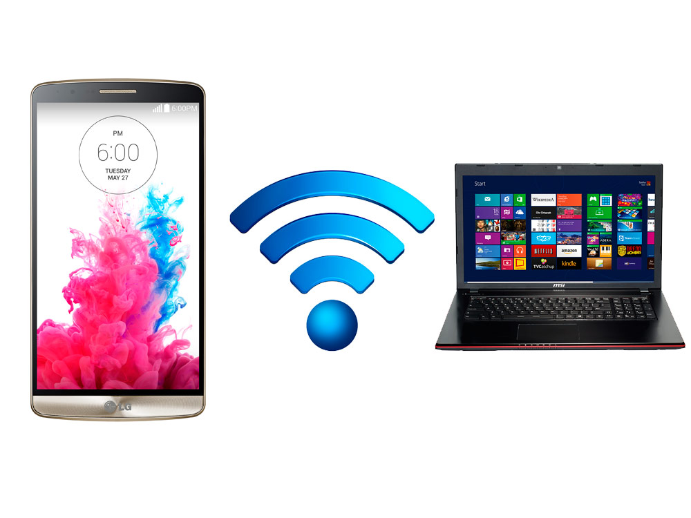 Transfer files between Android and PC wirelessly