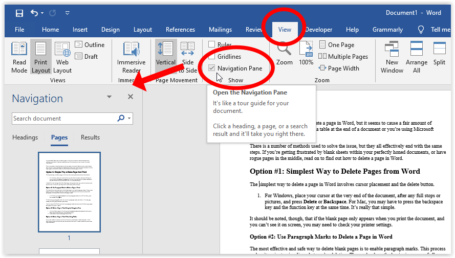 How To Delete a Page or Whitespace from Word