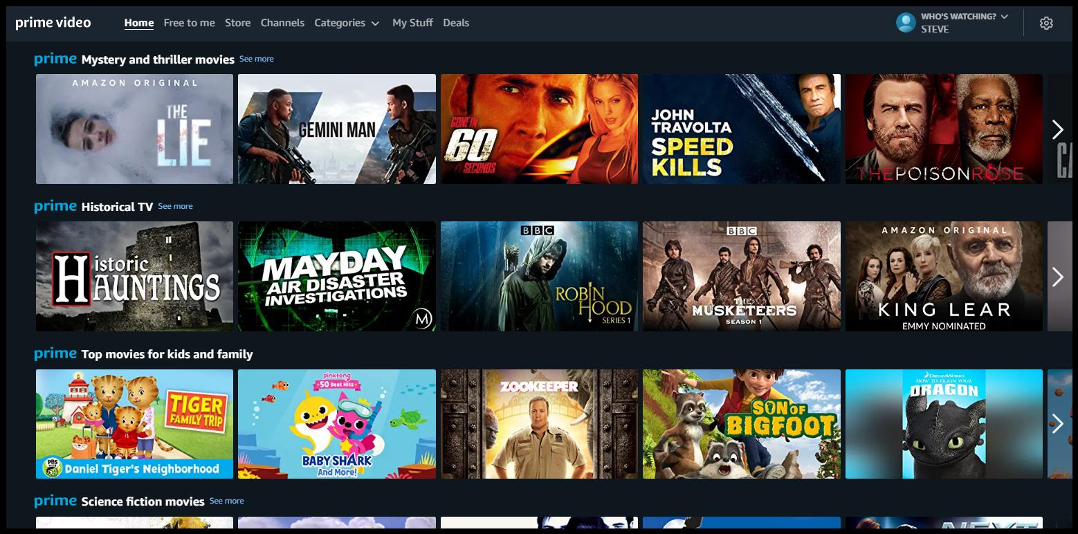 Amazon prime video - Accounts