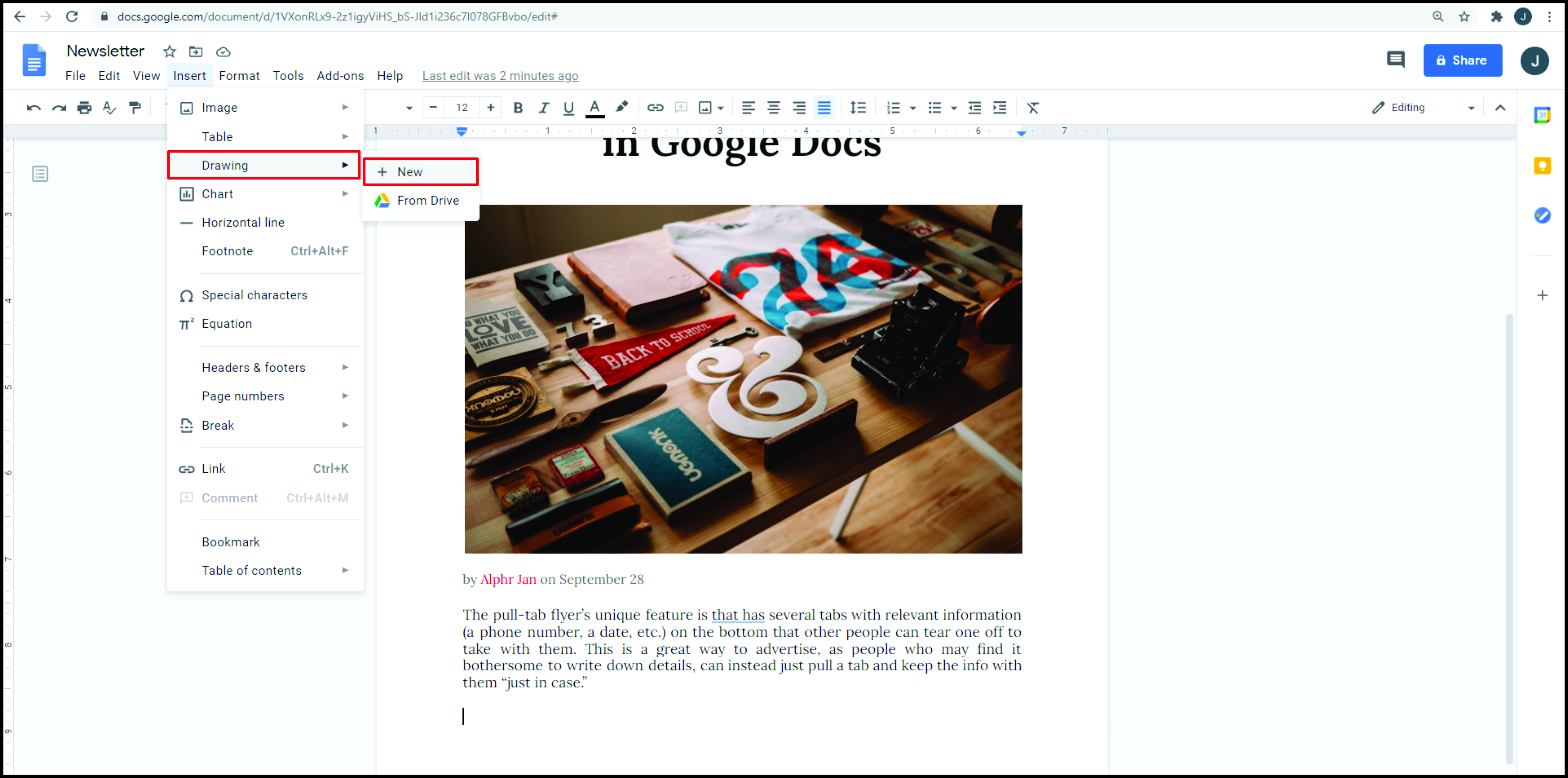 How to Make a Flyer in Google Docs