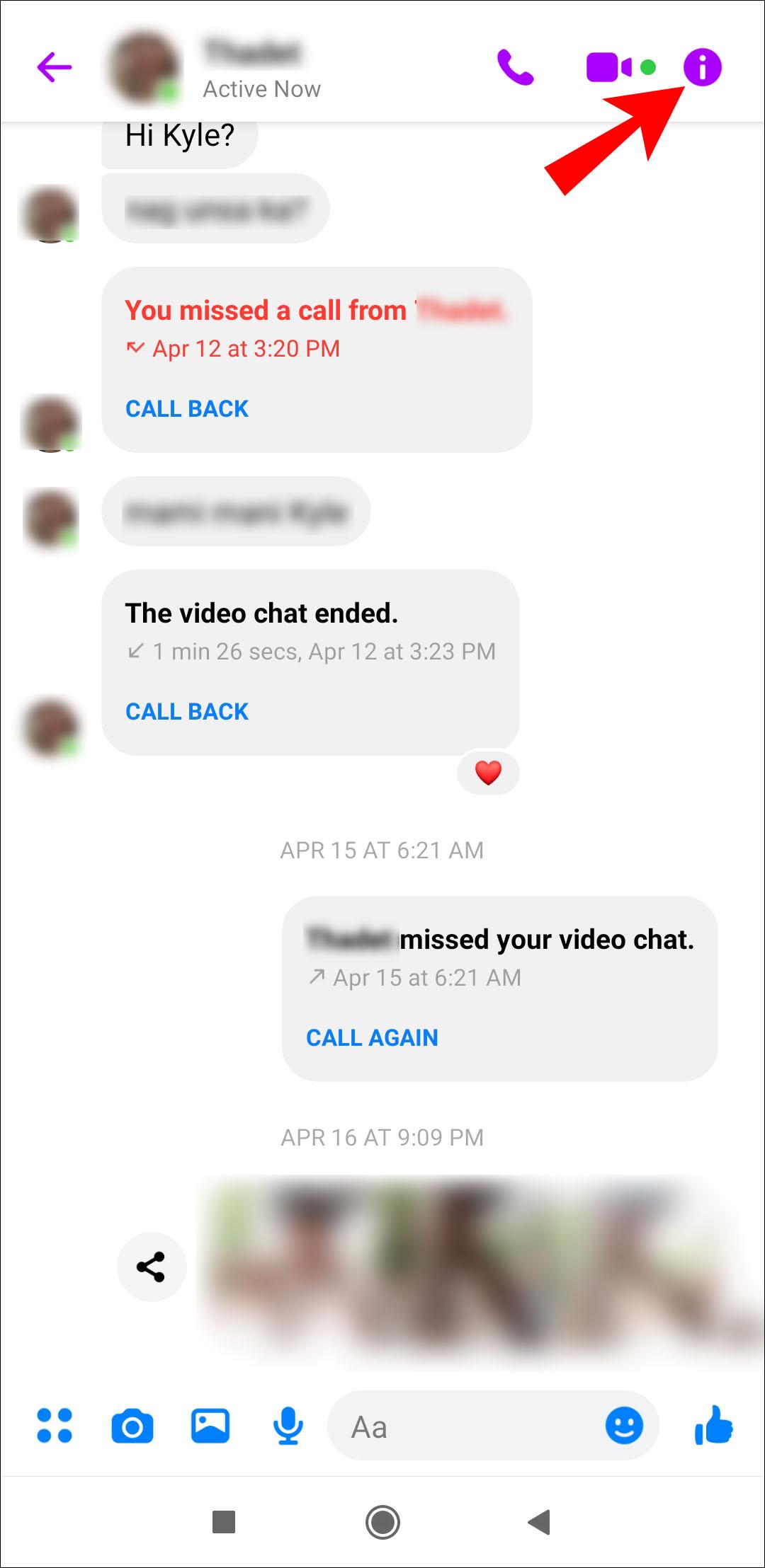 Now messenger active Facebook Messenger